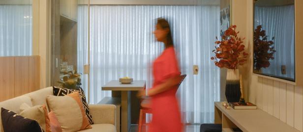 Arquiteta integra ambientes no apartamento de 76 m² no Quintas da Glória.