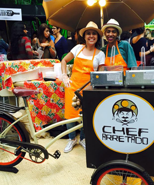 food bike chef arretado