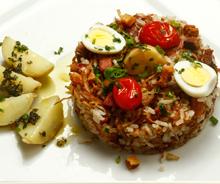 arroz com carne seca