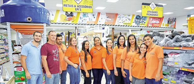 equipe de vendas da loja