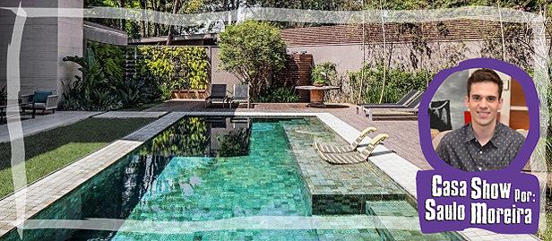 piscina com revestimento de pedra vulcânica, a Pedra Hijau