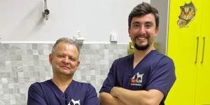 Os médicos veterinários Dr. Sérgio Miranda e Dr. Celso Cerqueira fazem parte do time de profissionais qualificados da VetSLIM