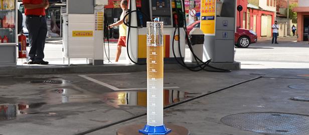 teste da proveta em posto de gasolina, macaé